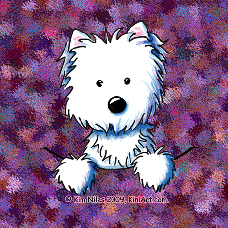 Pocket Westie Quilting Square fabric by kiniart on Spoonflower - custom fabric