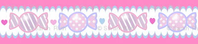 Unicorn Fantasy Candy Border Magenta