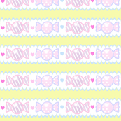 Unicorn Fantasy Candy Border Pastel Yellow