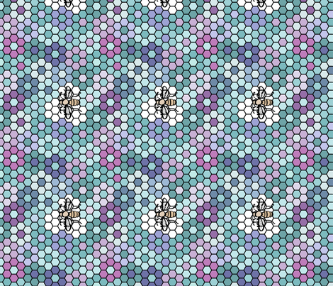 Honeycomb-3a-centers fabric by mina on Spoonflower - custom fabric