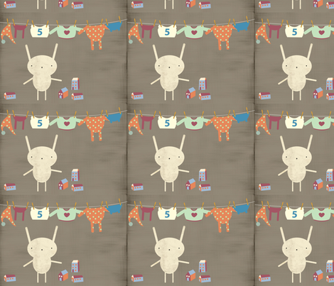 Little bunny fabric by yaelfran on Spoonflower - custom fabric