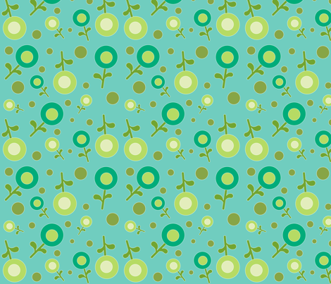 flowers1 fabric by luckyapple on Spoonflower - custom fabric