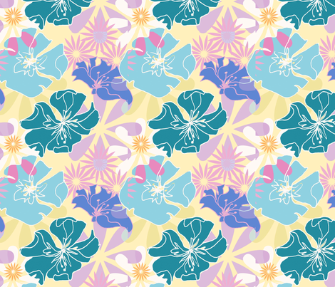 flowers fabric by musterartig on Spoonflower - custom fabric