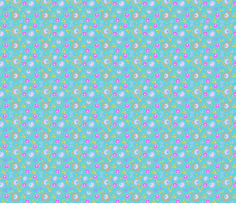 flowerpower fabric by musterartig on Spoonflower - custom fabric