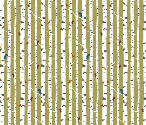 birch fabric by troismiettes on Spoonflower - custom fabric