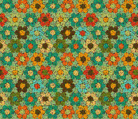 flower_garden_TEALpoint fabric by lfntextiles on Spoonflower - custom fabric