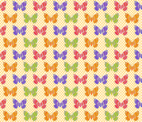 butterfly__multi fabric by lfntextiles on Spoonflower - custom fabric