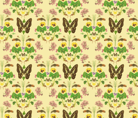 Natural History fabric by katie_daisy on Spoonflower - custom fabric