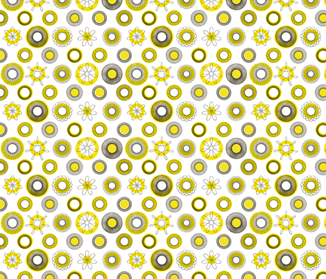 cerclesBiC fabric by falcó_ on Spoonflower - custom fabric
