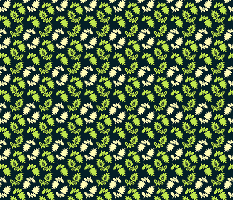 Summer Picnic Navy Floral fabric by natalie on Spoonflower - custom fabric