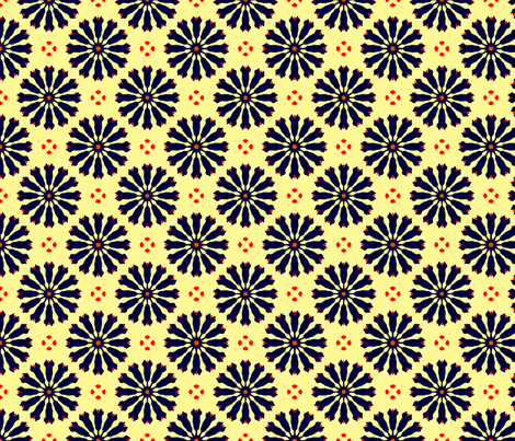 Flower Spokes fabric by thatswho on Spoonflower - custom fabric