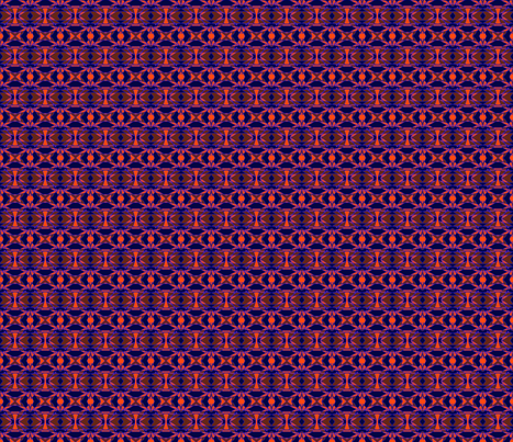 Purple & Orange Voodoo Tribal fabric by eelkat on Spoonflower - custom fabric