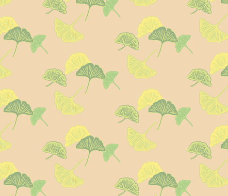 Gingko (putty) fabric by cottageindustrialist on Spoonflower - custom fabric