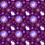 Rabbit Mandalas Purple