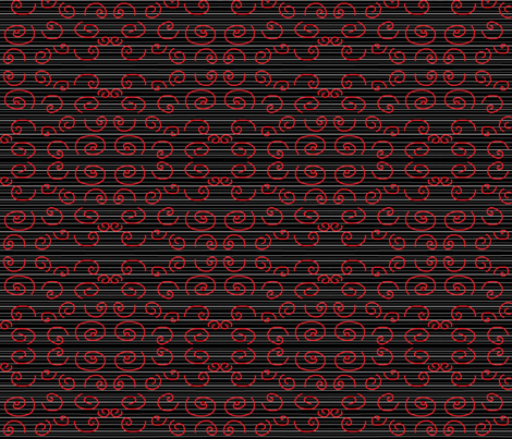 Black & Red Goddess Swirl fabric by eelkat on Spoonflower - custom fabric