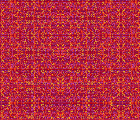 Red Goddess fabric by eelkat on Spoonflower - custom fabric