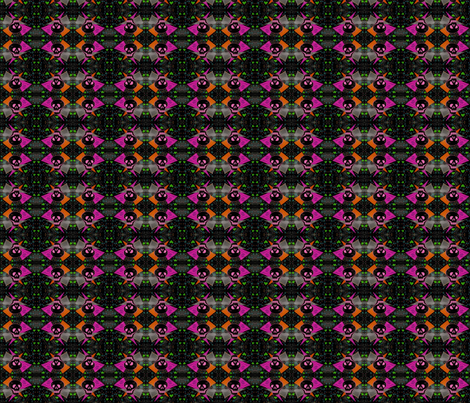 Voodoo Gothic Skull Heart fabric by eelkat on Spoonflower - custom fabric