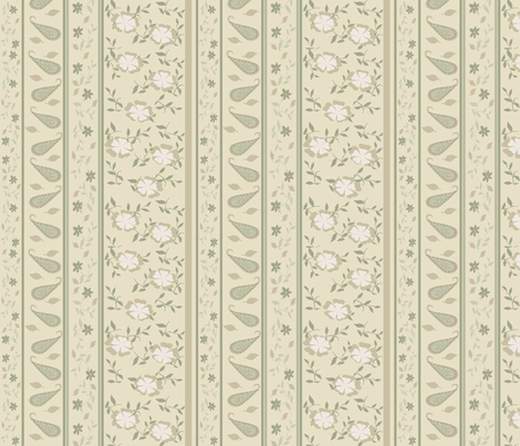 Stripes and Paisleys fabric by heidikaether on Spoonflower - custom fabric