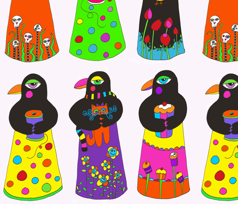 Sew Bake Peace fabric by ephemeralalchemy on Spoonflower - custom fabric