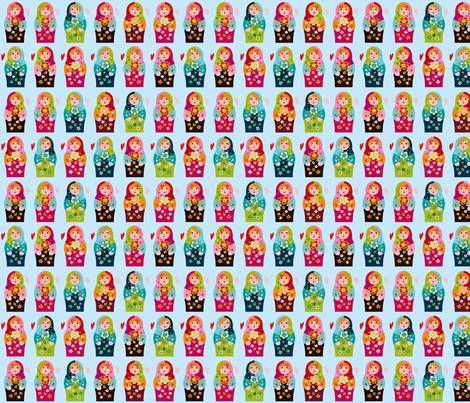 matrioschka-anhänger fabric by i'm_sew_happy on Spoonflower - custom fabric