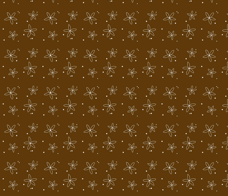 brown_flowers fabric by sweetwaterbaby on Spoonflower - custom fabric