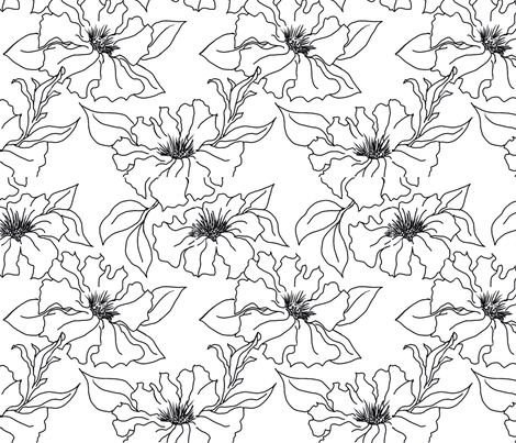 Petunias fabric by dragonfly on Spoonflower - custom fabric