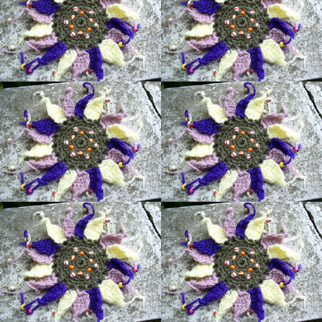 flower power 2 fabric by gonerustic on Spoonflower - custom fabric