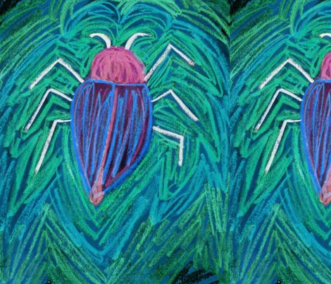 Big_green_Bug_v fabric by eelkat on Spoonflower - custom fabric