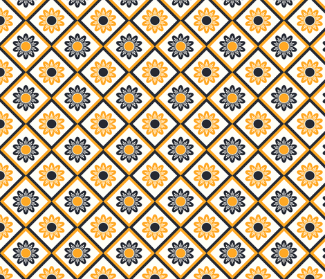 yellow black pattern fabric by suziedesign on Spoonflower - custom fabric
