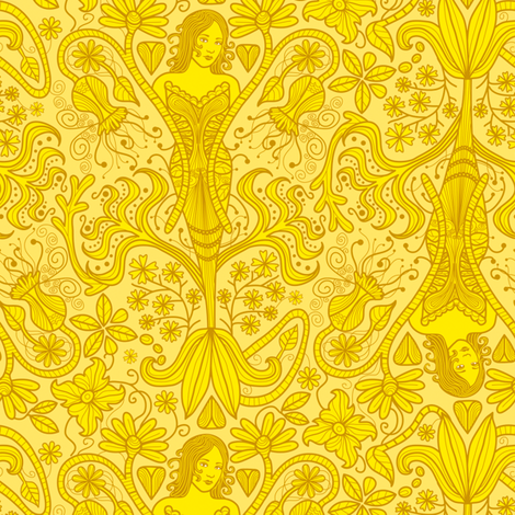 The Yellow Wallpaper fabric by totallysevere on Spoonflower - custom fabric