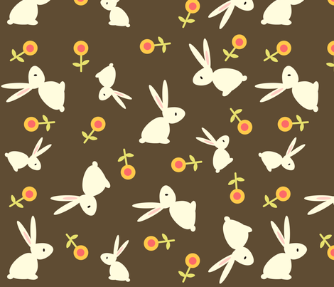 roundrabbit fabric by luckyapple on Spoonflower - custom fabric