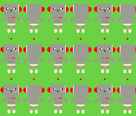Small Robot Stuffie fabric by maeve83 on Spoonflower - custom fabric
