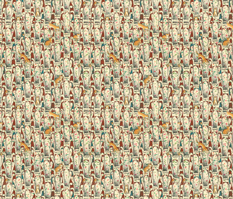 The Story of Mrs. Lovewright and Purrless her Cat fabric by paul-ny on Spoonflower - custom fabric