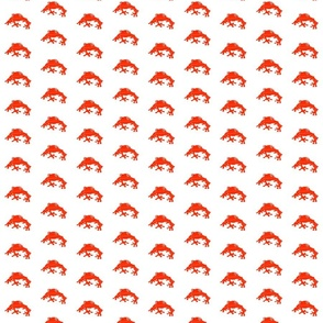Tree Frog Pattern (Red)