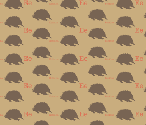E is for Echidna fabric by maile on Spoonflower - custom fabric