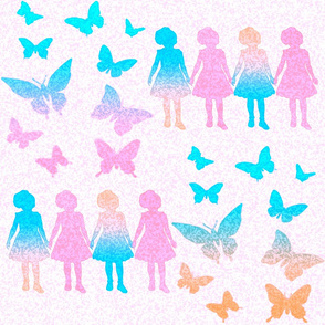 Paper dolls and Butterflies 1