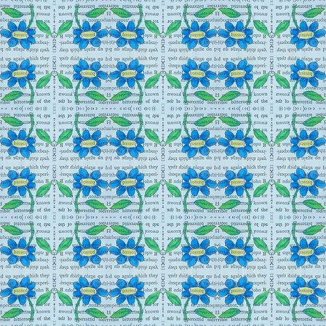 secrets - blue daisies 4 fabric by gonerustic on Spoonflower - custom fabric