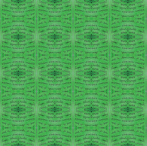 secrets - green 2 fabric by gonerustic on Spoonflower - custom fabric