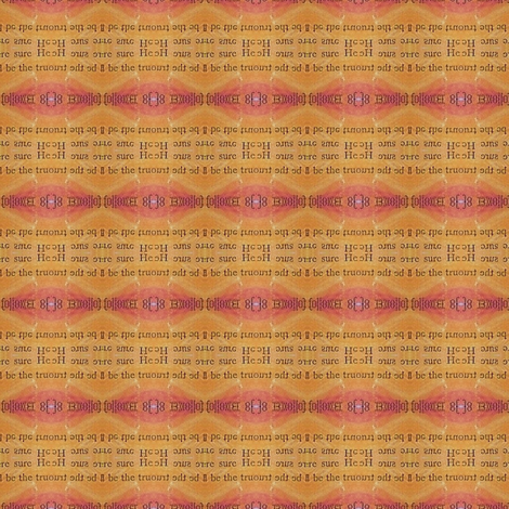 secrets - orange stripe 1 fabric by gonerustic on Spoonflower - custom fabric