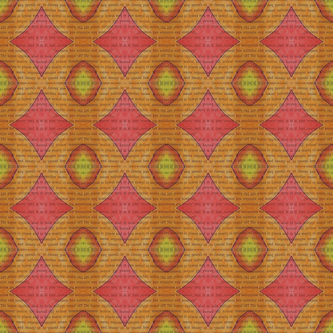 secrets - orange and pink fabric by gonerustic on Spoonflower - custom fabric