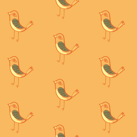 bird sketch fabric by anieke on Spoonflower - custom fabric