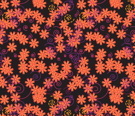 Flower Power orange fabric by wendysheridan on Spoonflower - custom fabric