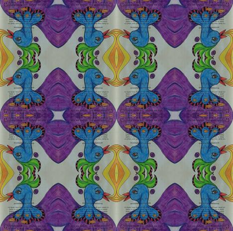 secrets - bird fabric by gonerustic on Spoonflower - custom fabric
