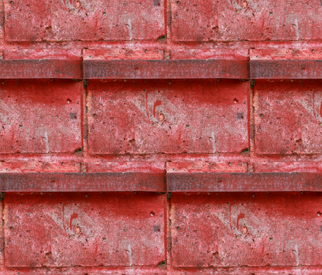 Red Bricks fabric by studiotart on Spoonflower - custom fabric