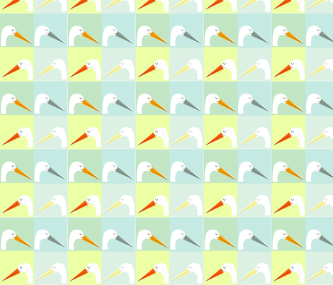stork - beachy fabric by anda on Spoonflower - custom fabric