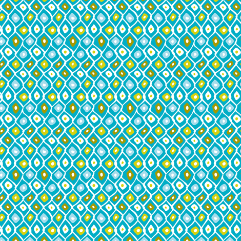 Barnacle Net - Aqua  fabric by heatherdutton on Spoonflower - custom fabric