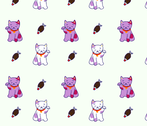Neko fabric by smallstitch on Spoonflower - custom fabric