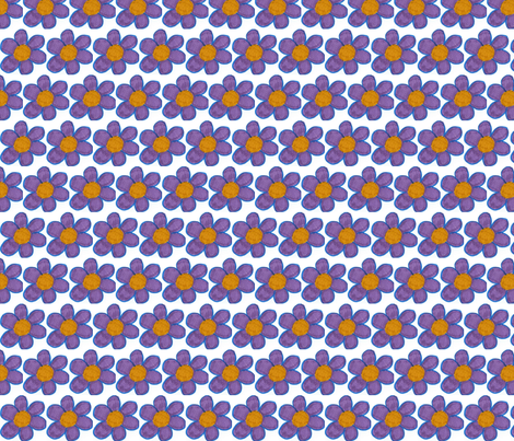 Purple flowers fabric by stephen_of_spoonflower on Spoonflower - custom fabric