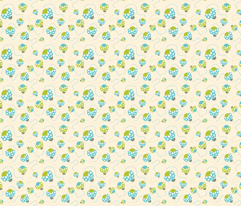Retro Lady Bugs Fabric Print