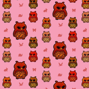 Owls Pretty in Pink